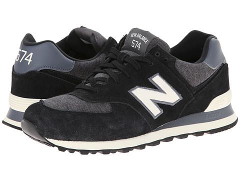 New Balance Classics - ML574 - Pennant Collection (Black/White) Men's Shoes