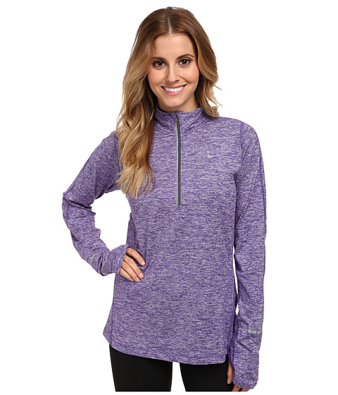Nike - Element Half-Zip (Court Purple/Heather/Reflective Silver) Women's Long Sleeve Pullover