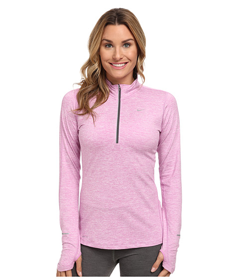 Nike - Element Half-Zip (Light Magenta/Heather/Reflective Silver) Women