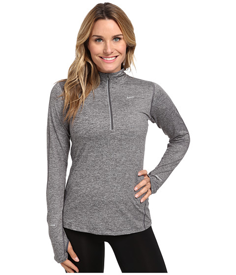 Nike - Element Half-Zip (Dark Grey/Heather/Reflective Silver) Women's Long Sleeve Pullover