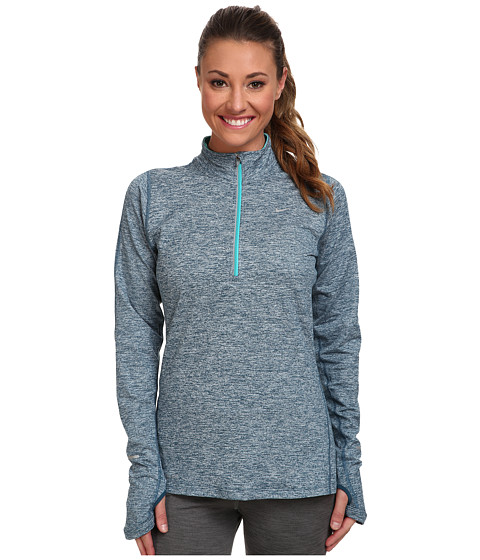 Nike - Element Half-Zip (Space Blue/Heather/Dusty Cactus/Reflective Silver) Women
