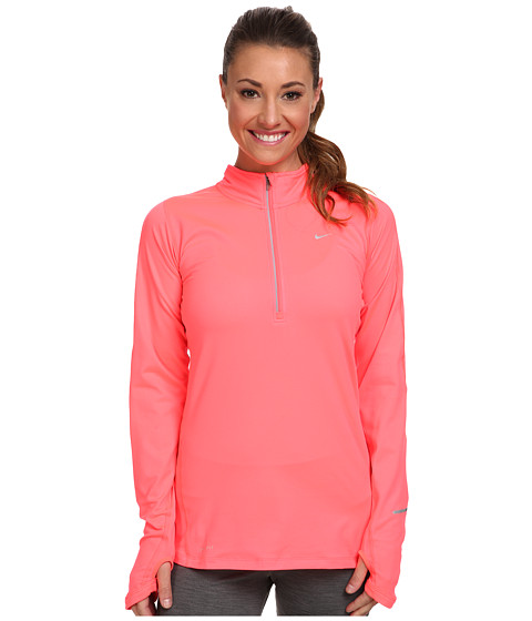 Nike - Element Half-Zip (Hyper Punch/Hyper Punch/Reflective Silver) Women's Long Sleeve Pullover
