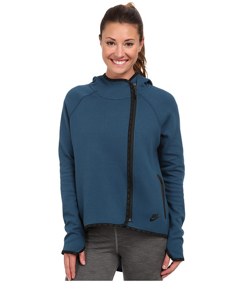 Nike - Tech Cape (Space Blue/Black) Women's Jacket