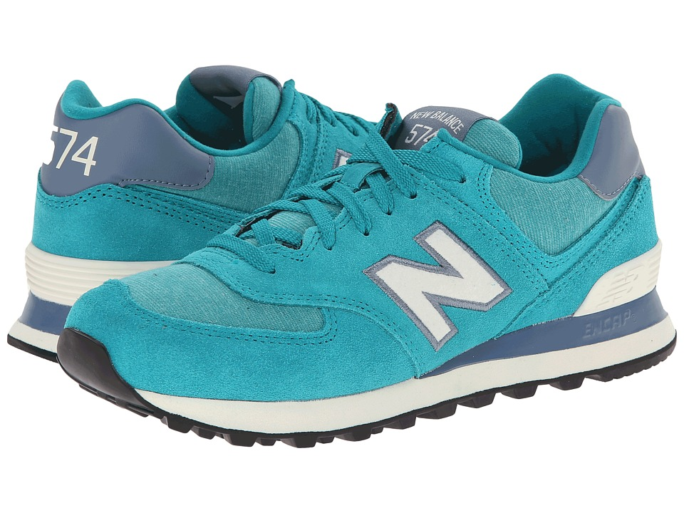 New Balance Classics - WL574 - Pennant Collection (Teal/White) Women's Lace up casual Shoes