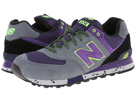New Balance Classics - ML574 - Outdoor Collection (Dark Grey/Purple) Men's Shoes
