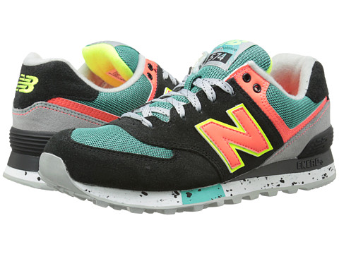 New Balance Classics - WL574 - Outdoor Collection (Black/Orange) Women's Shoes