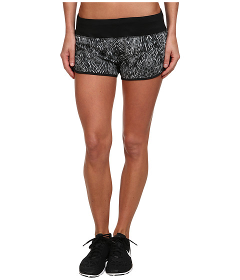 Nike - Printed 2 Rival Short (Black/Black/Reflective Silver) Women's Shorts