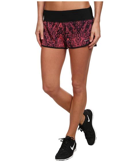 Nike - Printed 2 Rival Short (Hyper Crimson/Black/Reflective Silver) Women