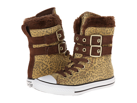 Converse Kids - Chuck Taylor All Star Glendale Hi (Little Kid/Big Kid) (Leopard) Girls Shoes