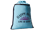 Life is good Go-To Cinch Sack (Surfer Blue)