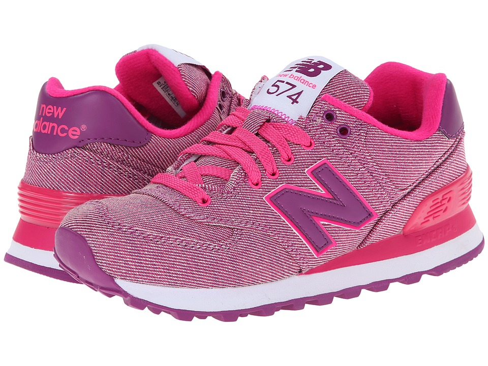 New Balance Classics - WL574 - Glitch (Pink Glo) Women's Shoes