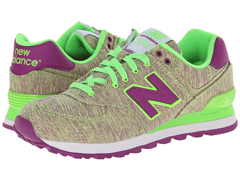 New Balance Classics - WL574 - Glitch (Green/Purple) Women