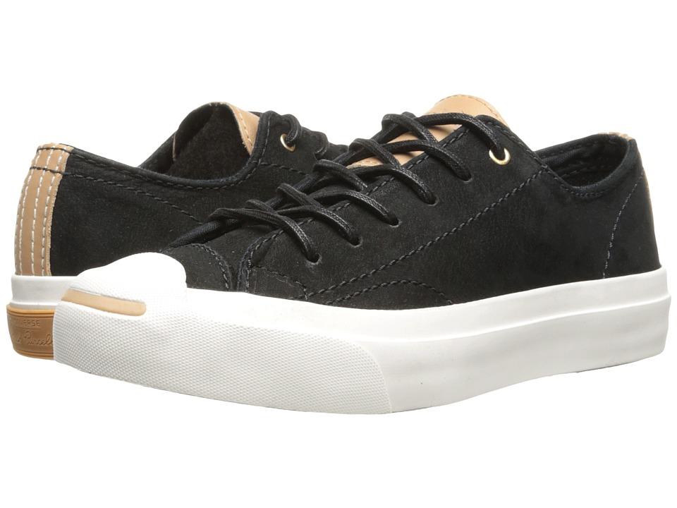 Converse - Jack Purcell Split Tongue Leather (Converse Black/Nougat) Shoes