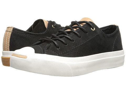 Converse - Jack Purcell Split Tongue Leather (Converse Black/Nougat) Shoes
