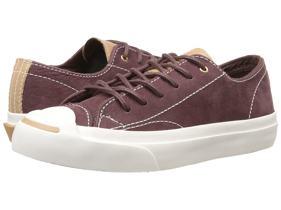 Converse - Jack Purcell Split Tongue Leather (Bordo/Nougat) Shoes
