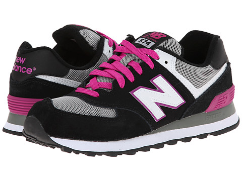 New Balance Classics - W574 (Black/Pink 1) Women's Classic Shoes