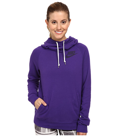 Nike - Rally Funnel Neck Hoodie (Court Purple/Hyper Grape) Women's Sweatshirt