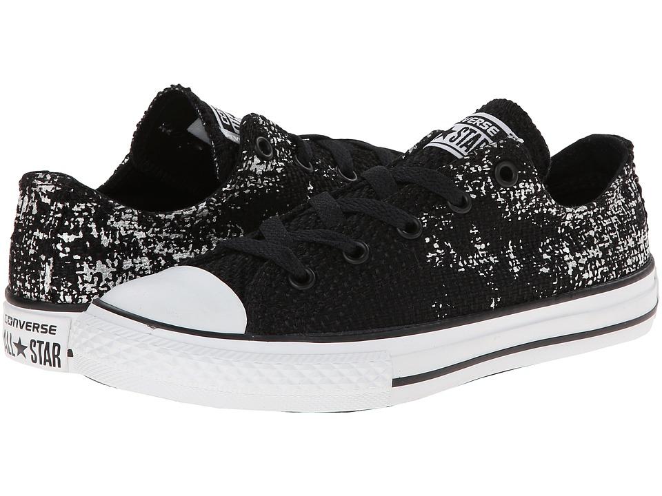 Converse Kids - Chuck Taylor All Star Ox (Little Kid/Big Kid) (Black 3) Girls Shoes