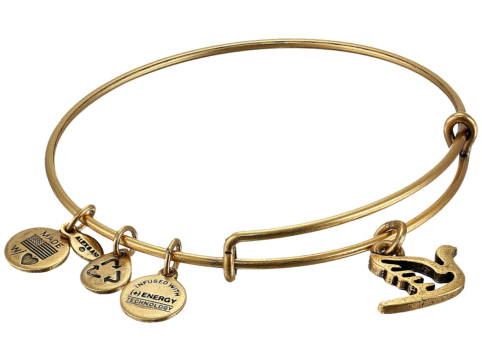 Alex and Ani - Sacred Dove Charm Bangle (Rafaelian Gold Finish) Bracelet