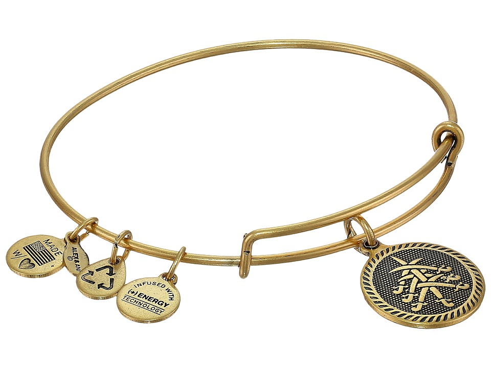 Alex and Ani - Seven Swords Charm Bangle (Rafaelian Gold Finish) Bracelet