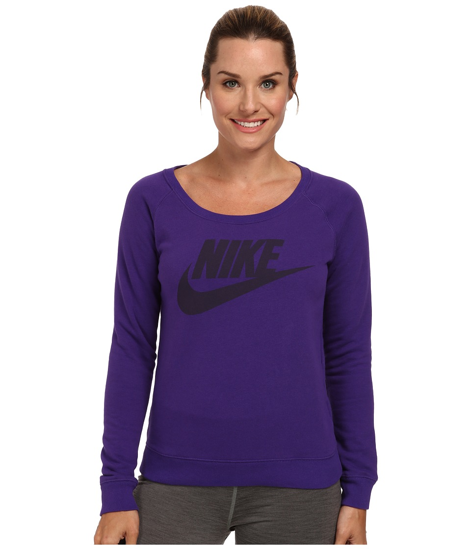 Nike - Rally Crew (Court Purple/Hyper Grape) Women's Sweatshirt
