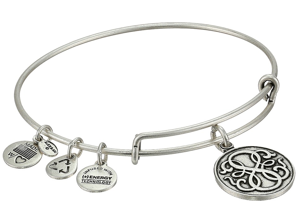 Alex and Ani - Path Of Life Charm Bangle (Rafaelian Silver Finish) Bracelet