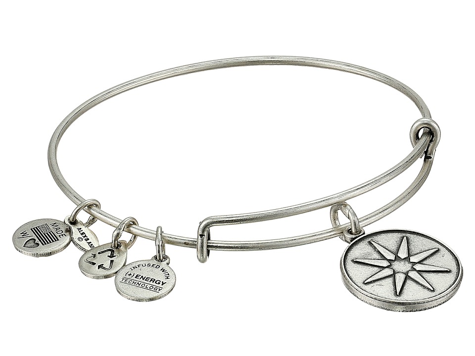 Alex and Ani - Star of Venus Charm Bangle (Rafaelian Silver Finish) Bracelet