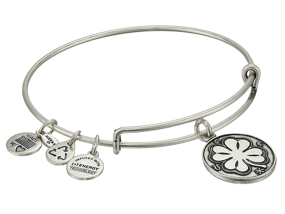 Alex and Ani - Four Leaf Clover II (Rafaelian Silver Finish) Bracelet