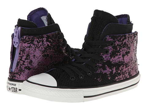 Converse Kids - Chuck Taylor All Star Zip Back (Little Kid/Big Kid) (Hollyhock) Girls Shoes