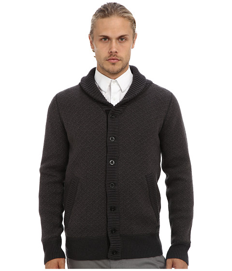 G-Star - Koonded Cardigan L/S Knit (Raven) Men's Sweater