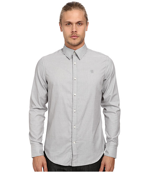 G-Star - Core L/S Shirt in Stockton Weave Raw Grey (Raw Grey) Men's Long Sleeve Button Up