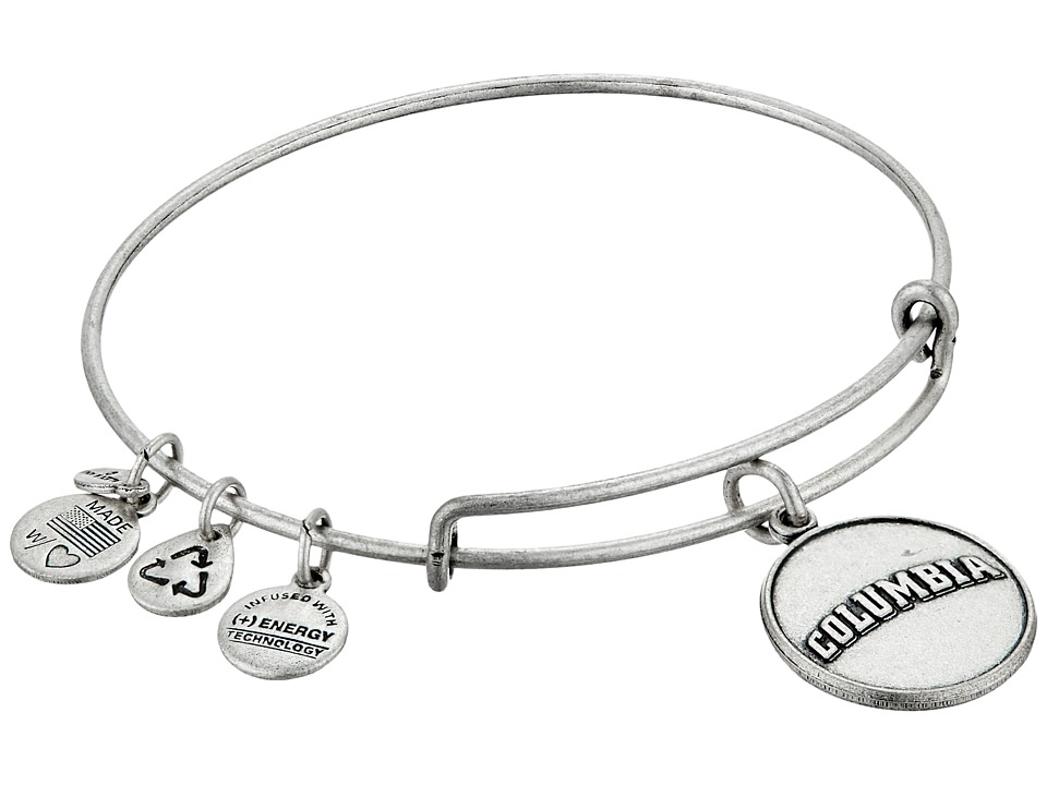 Alex and Ani - Columbia University Logo Charm Bangle (Rafaelian Silver Finish) Bracelet