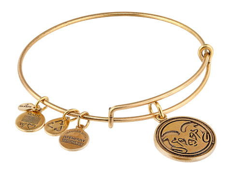 Alex and Ani - Colorado State University Mascot Charm Bangle (Rafaelian Gold Finish) Bracelet