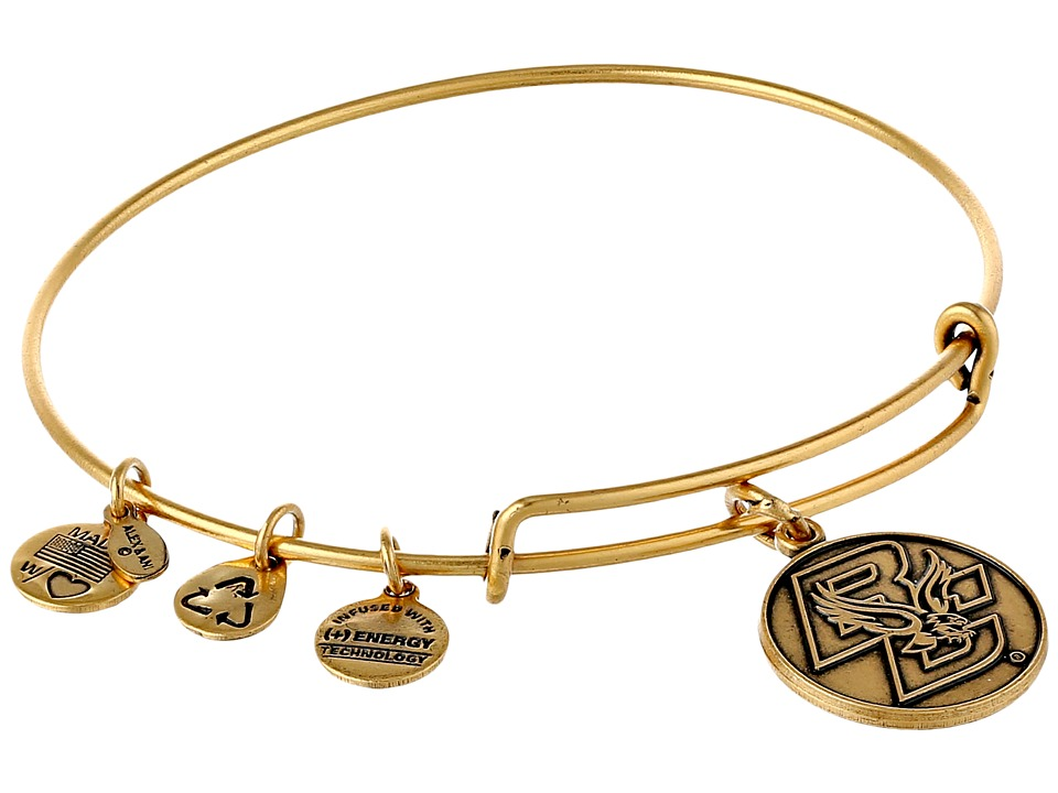 Alex and Ani - Boston College Logo Charm Bangle (Rafaelian Gold Finish) Bracelet