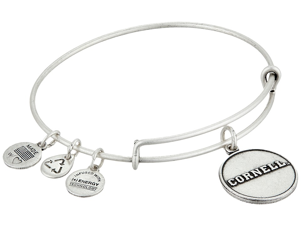 Alex and Ani - Cornell University Logo Charm Bangle (Rafaelian Silver Finish) Bracelet