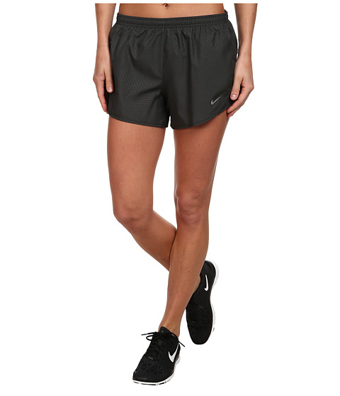Nike - Mod Tempo Emboss Run Short (Anthracite/Anthracite/Reflective Silver) Women's Shorts
