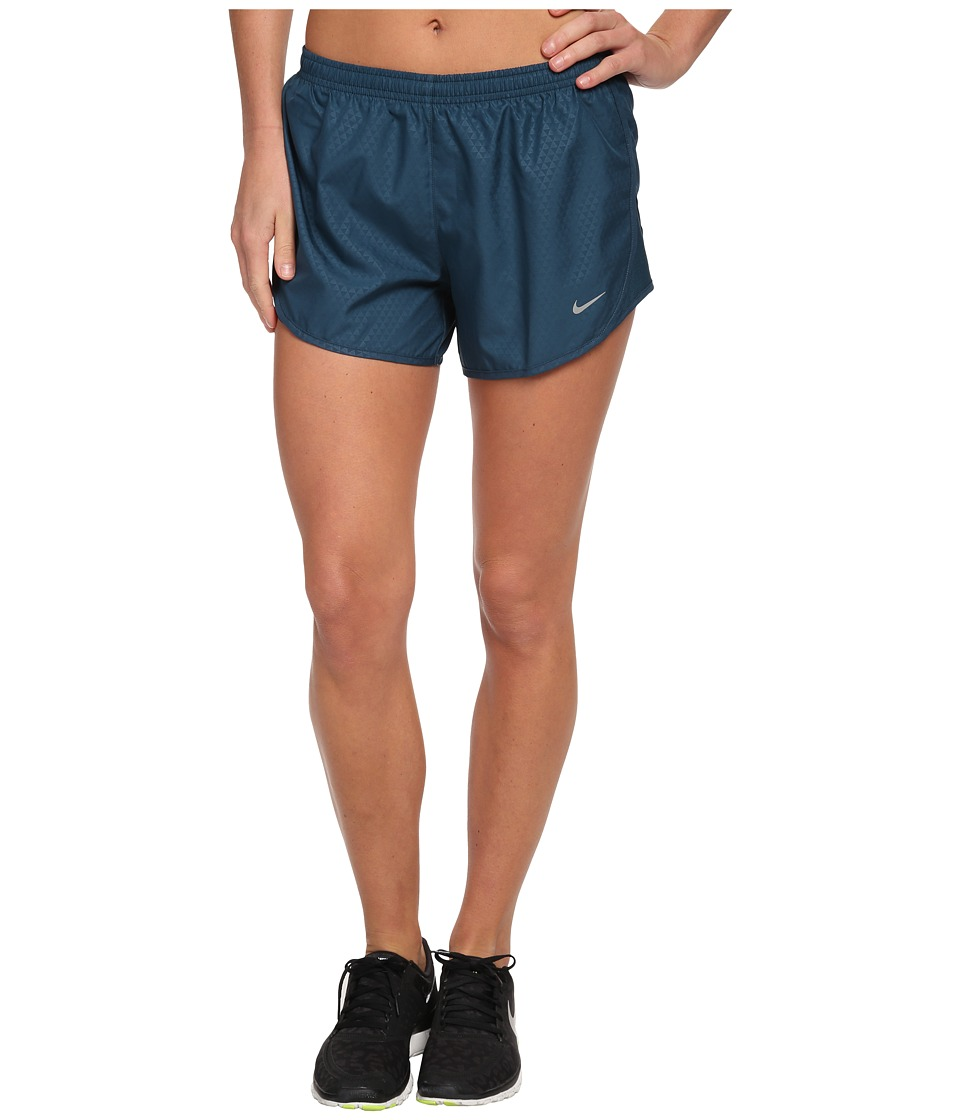 Nike - Mod Tempo Emboss Run Short (Space Blue/Space Blue/Matte Silver/Reflective Silver) Women's Shorts
