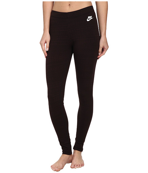 Nike - Leg-A-See Pant (Deep Burgundy/White) Women's Workout
