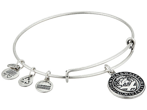 Alex and Ani - Johnson Wales University Logo Charm Bangle (Rafaelian Silver Finish) Bracelet
