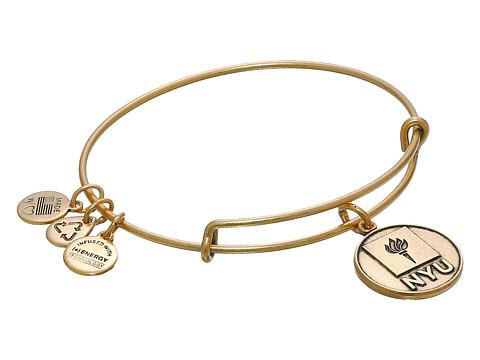 Alex and Ani - New York University Logo Charm Bangle (Rafaelian Gold Finish) Bracelet