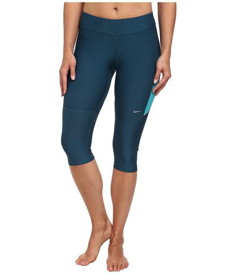 Nike - Filament Capri (Space Blue/Dusty Cactus/Dusty Cactus/Matte Silver) Women