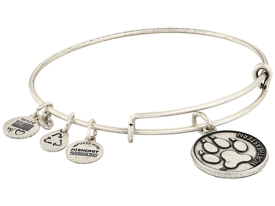 Alex and Ani - Northeastern University Alumni Charm Bangle (Rafaelian Silver Finish) Bracelet