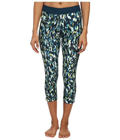 Nike - Dri-Fit Printed Relay Crop (Dusty Cactus/Space Blue/Matte Silver) Women