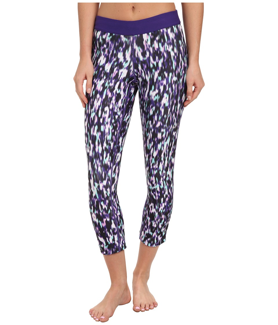 Nike - Dri-Fit Printed Relay Crop (Light Magenta/Court Purple/Matte Silver) Women
