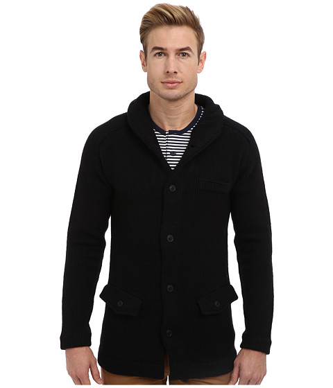 G-Star - Portaged Cardigan L/S Knit (Black) Men