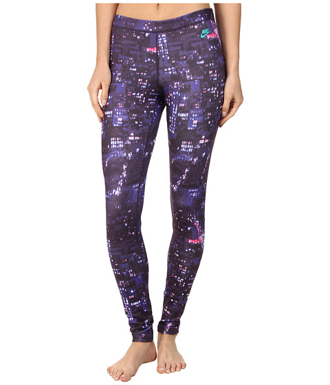 Nike - RU City Print Legging (Cave Purple/Hyper Jade) Women's Workout