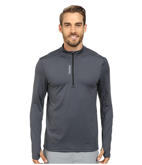Reebok - Quarter Zip (Graphite/Black) Men's Fleece