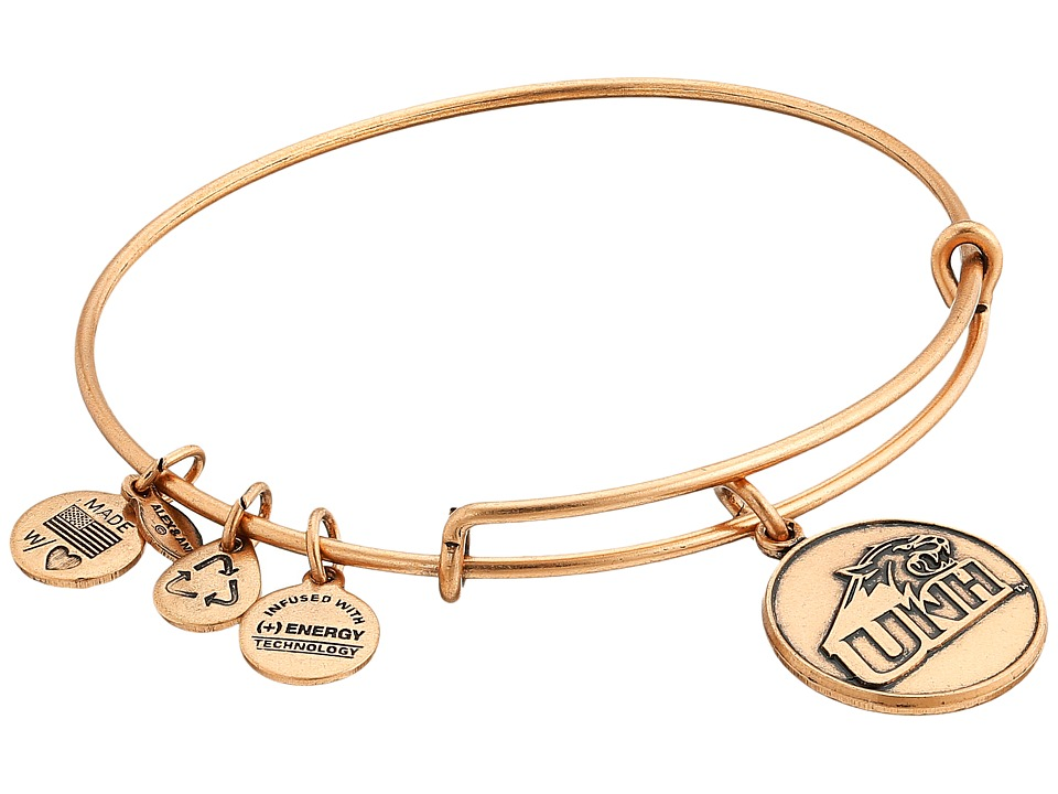 Alex and Ani - University of New Hampshire Logo Charm Bangle (Rafaelian Gold Finish) Bracelet