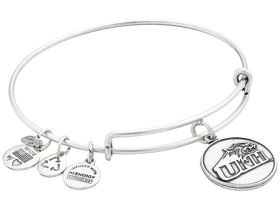 Alex and Ani - University of New Hampshire Logo Charm Bangle (Rafaelian Silver Finish) Bracelet
