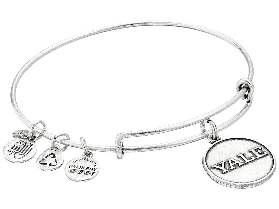 Alex and Ani - Yale University Logo Charm Bangle (Rafaelian Silver Finish) Bracelet